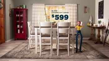 Bob's Discount Furniture TV Spot, 'Comedor Blake de siete piezas: $599 dólares' [Spanish] - Thumbnail 7