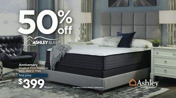 Ashley HomeStore Anniversary Mattress Sale TV Spot, '50% Off Ashley-Sleep' - Thumbnail 4