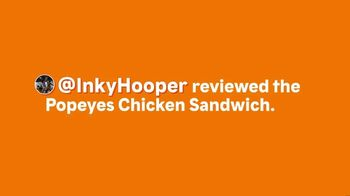 Popeyes Chicken Sandwich TV Spot, 'Inkyhooper: Cajun Style Turkey' - Thumbnail 1