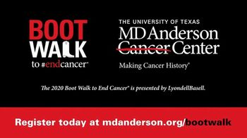 MD Anderson Cancer Center TV Spot, '2020 Boot Walk to End Cancer: Going Virtual'