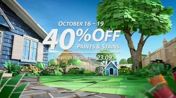 Sherwin-Williams TV Spot, 'Bring It Home: 40% Off Paints & Stains' - Thumbnail 3