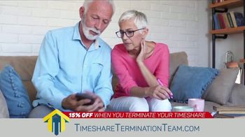 Timeshare Termination Team TV Spot, 'Costly Fees: 15% Off'