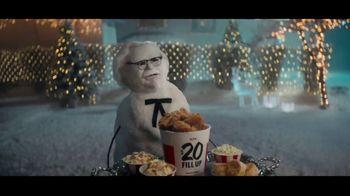 KFC $20 Fill Up TV Spot, 'Holidays: Colonel Snowman'