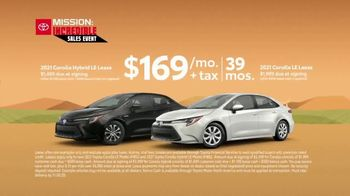 Toyota Mission: Incredible Sales Event TV Spot, 'Final Days: Corolla' [T2] - Thumbnail 6