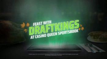DraftKings Casino Queen Sportsbook TV Spot, 'Thanksgiving: No Brainer' - Thumbnail 1