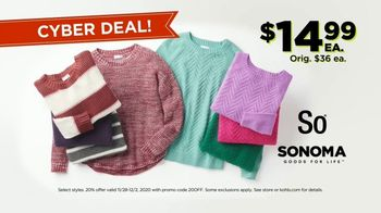 Kohl's Cyber Deal Days TV Spot, 'Sweaters, Shark Vacuums and Melissa & Doug Toys'