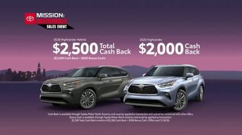 Toyota Mission: Incredible Sales Event TV Spot, 'Hurry In: Highlander' [T2] - Thumbnail 4