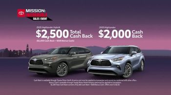 Toyota Mission: Incredible Sales Event TV Spot, 'Hurry In: Highlander' [T2] - Thumbnail 5