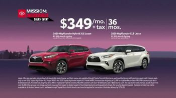 Toyota Mission: Incredible Sales Event TV Spot, 'Hurry In: Highlander' [T2] - Thumbnail 7