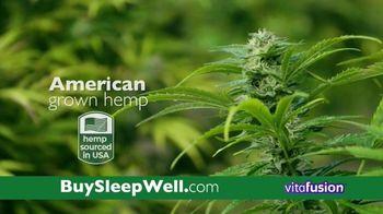 VitaFusion CBD Hemp Extract Sleep Well TV Spot, 'Falling Asleep' - Thumbnail 6