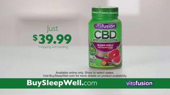 VitaFusion CBD Hemp Extract Sleep Well TV Spot, 'Falling Asleep' - Thumbnail 8