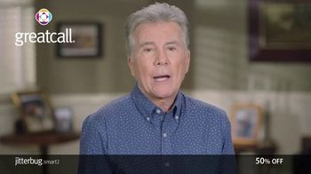 GreatCall Jitterbug Smart2 TV Spot, 'Holiday Savings: You're Not Alone: 50%' Featuring John Walsh - 26 commercial airings