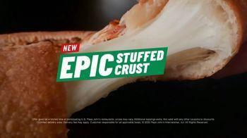 Papa John's Epic Stuffed Crust Pizza TV Spot, 'Important' - Thumbnail 9