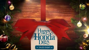 Happy Honda Days Sales Event TV Spot, 'Holiday Clearance: HR-V' [T2] - Thumbnail 3