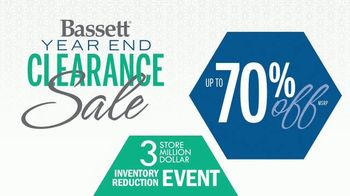 Bassett Year End Clearance Sale TV Spot, 'Inventory Reduction Event'