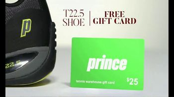 Tennis Warehouse Prince Holiday Sale TV Spot, 'Free Gift Card' - Thumbnail 6