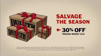 Duluth Trading Company TV Spot, 'Holidays: Salvage the Season: Save 30% Off' - Thumbnail 10