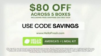 HelloFresh TV Spot, 'Everything You Need: $80 Off' - Thumbnail 9