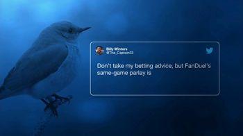 FanDuel Sportsbook TV Spot, 'Another Pretty Good Tweet: $25' - Thumbnail 3