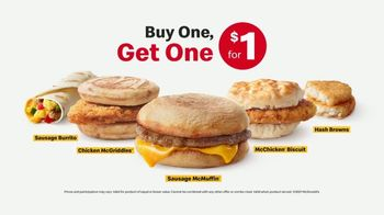 McDonald's Buy One, Get One for $1 TV Spot, 'You Get the Baby Meal: Breakfast Menu' - Thumbnail 6