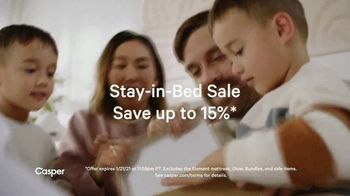 Casper Stay-in-Bed Sale TV Spot, 'Reset Your Rest: Save Up to 15%' - Thumbnail 3