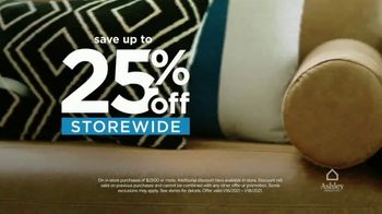 Ashley HomeStore 72 Hour Sale TV Spot, 'Up to 25% off Storewide' - Thumbnail 4