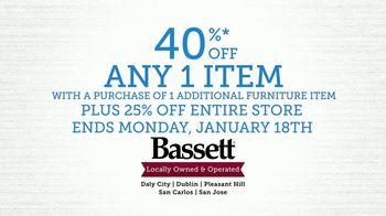 Bassett Winter Home Sale TV Spot, '40% Off Any One Item' - Thumbnail 8