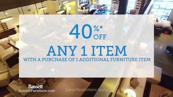 Bassett Winter Home Sale TV Spot, '40% Off Any One Item' - Thumbnail 3