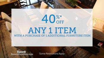 Bassett Winter Home Sale TV Spot, '40% Off Any One Item' - Thumbnail 4