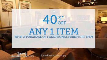 Bassett Winter Home Sale TV Spot, '40% Off Any One Item' - Thumbnail 5