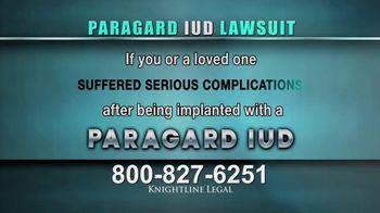 Knightline Legal TV Spot, 'Paragard IUD' - Thumbnail 2