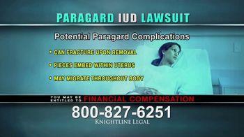 Knightline Legal TV Spot, \'Paragard IUD\'