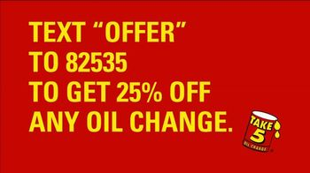 Take 5 Oil Change TV Spot, \'Start the New Year on a High Note\'