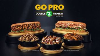 Subway TV Spot, 'Go Pro: Double the Protein on Footlongs or Protein Bowls for $2' - Thumbnail 10