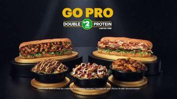 Subway TV Spot, 'Go Pro: Double the Protein on Footlongs or Protein Bowls for $2' - Thumbnail 9