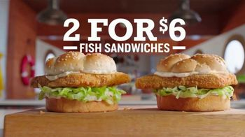 Arby's 2 for $6 Crispy Fish Sandwiches TV Spot, 'Catching Crispy, Flaky Fish' Song by YOGI - Thumbnail 5
