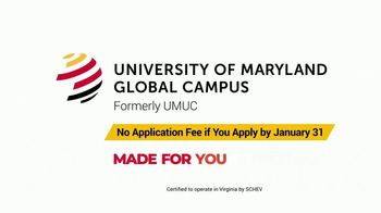 University of Maryland Global Campus TV Spot, 'Made for You: No Application Fee' - Thumbnail 10