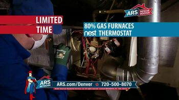 ARS Rescue Rooter Free Furnace Time TV Spot, 'Gas Furnace and Nest Thermostat'