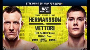 ESPN+ TV Spot, 'UFC Fight Night: Hermansson vs. Vettori' [Spanish] - 38 commercial airings