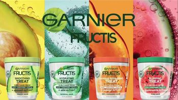 Garnier Fructis Treats 3-in-1 Hair Masks TV Spot, 'Super Fruits' Song by Lizzo - Thumbnail 1