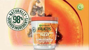 Garnier Fructis Treats 3-in-1 Hair Masks TV Spot, 'Super Fruits' Song by Lizzo - Thumbnail 3
