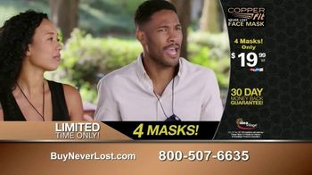 Copper Fit Never Lost Face Mask TV Spot, 'Built-In Lanyard' - Thumbnail 9