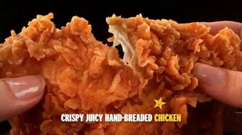 Hardee's Hand-Breaded Chicken Tenders TV Spot, 'Smothering' - Thumbnail 5