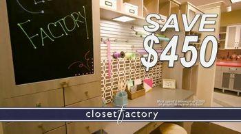 Closet Factory TV Spot, 'Don't Agonize, Organize Instead'