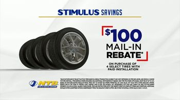 National Tire & Battery Stimulus Savings Event TV Spot, 'Mail-in Rebate: Michelin'