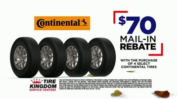 Tire Kingdom Big October TV Spot, 'Instant Savings, Continental Tires and Disinfecting Service'