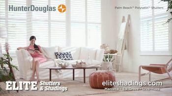 Hunter Douglas Elite Shutters & Shadings TV Spot, 'Enjoying Your Life' - Thumbnail 5