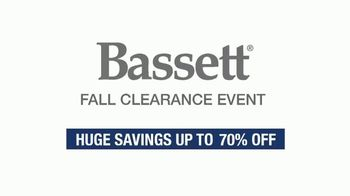 Bassett Fall Clearance Event TV Spot, 'Move Out the Old' - Thumbnail 1