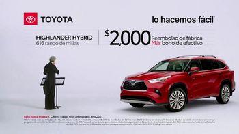 2021 Toyota Highlander Hybrid TV Spot, 'Director de orquesta' [Spanish] [T2] - 11 commercial airings