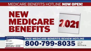 Medicare Benefits Hotline TV Spot, 'Attention: New Year: 2021 Benefits'